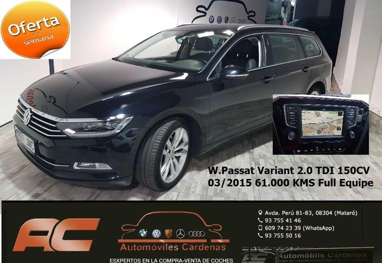 Volkswagen Passat Variant 2.0 TDI 150CV SPORT DSG CUERO-XENON-CAMARA-TEL-NAVEGADOR-ASIENTOS DEPORTIVOS  - Foto 1