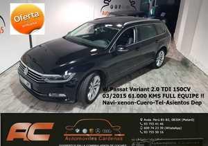 Volkswagen Passat Variant 2.0 TDI 150CV SPORT DSG CUERO-XENON-CAMARA-TEL-NAVEGADOR-ASIENTOS DEPORTIVOS  - Foto 2