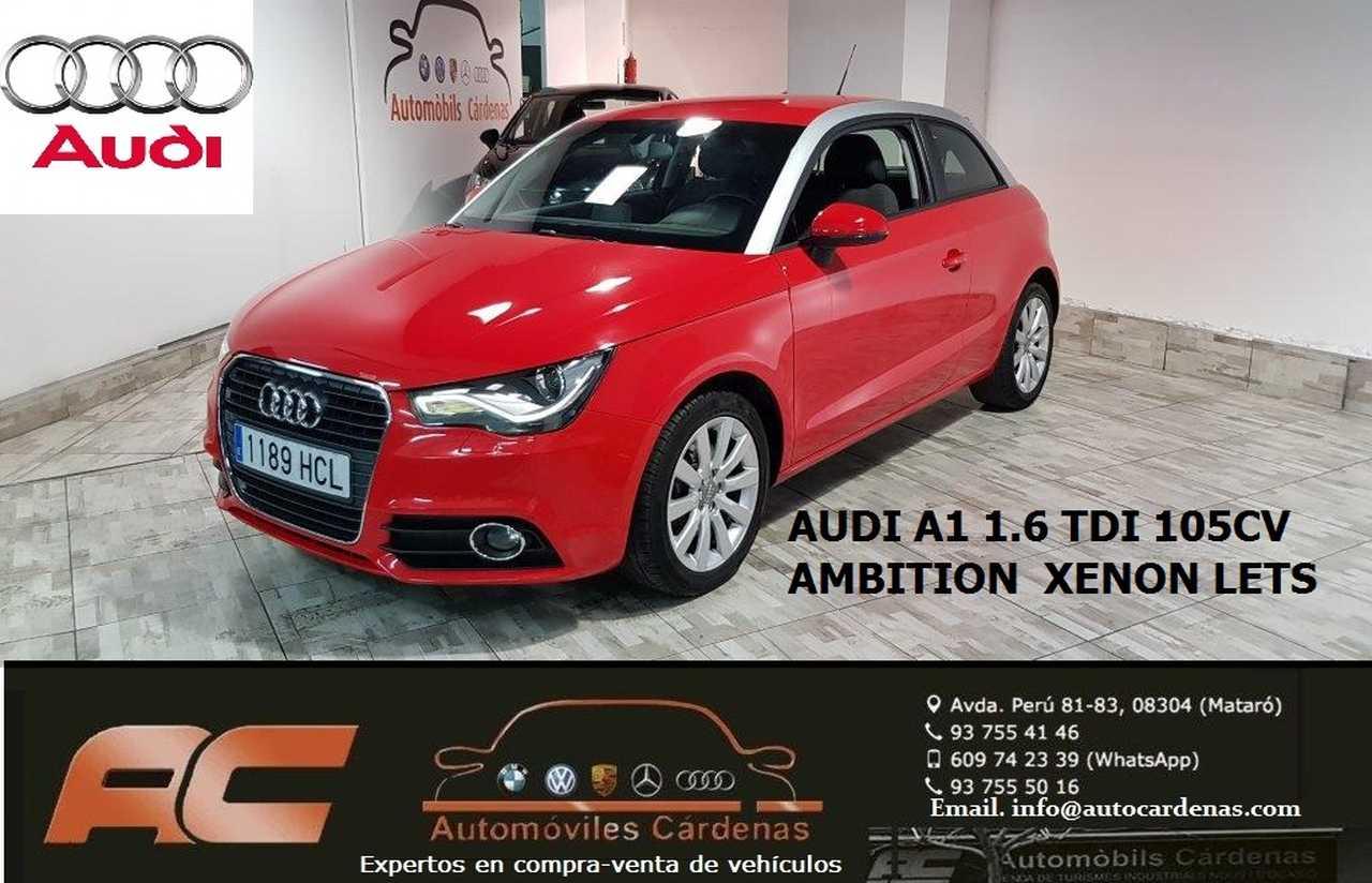 Audi A1 1.6 TDI 105CV AMBITION XENON+LETS-ASIENTOS DEPORTIVOS.VOLENTE SPORT  - Foto 1