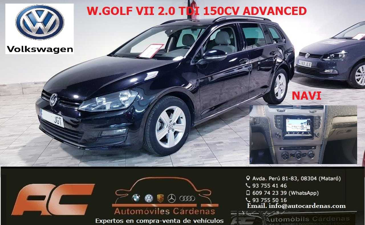Volkswagen Golf Variant 2.0 TDI 150CV ADVANCED BLUEMOTION NAVEGADOR GPS-TGELA BEIG-17