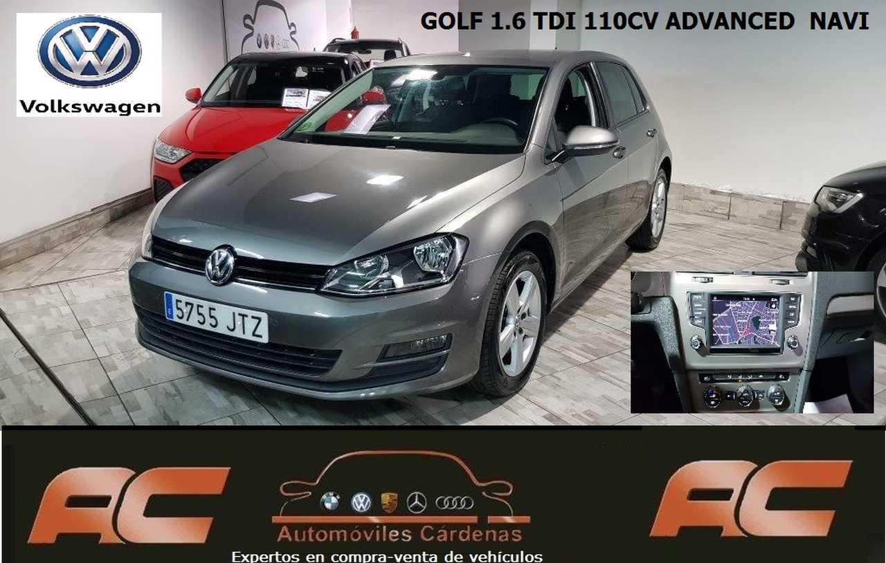 Volkswagen Golf 1.6 TDI 110CV ADVACED BLUEMOTION NAVEGADOR GPS-SENSOR LUCES Y LLUVIA PDC DEL Y TRASERO  - Foto 1