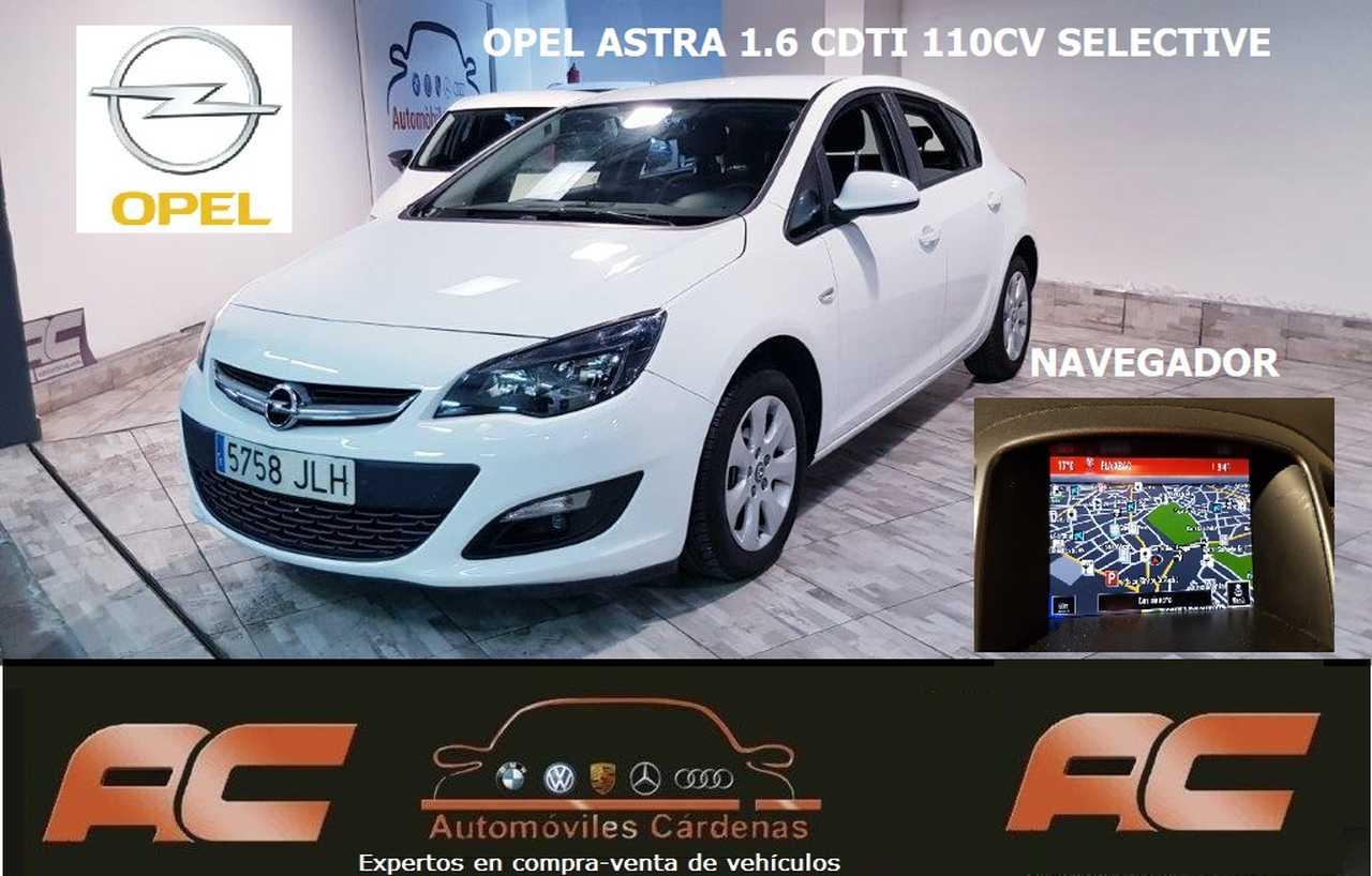 Opel Astra 1.6 CDTI 110CV SELECTIVE 2016 NAVEGADOR GPS-LLANTAS-BLUETOOH-USB  - Foto 1