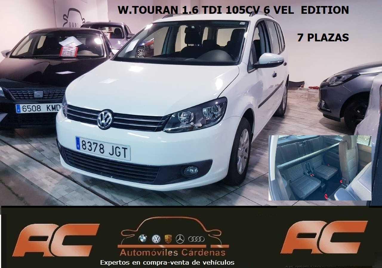 Volkswagen Touran 1.6 TDI 105CV  7 PLAZAS CLIMA-LLANTA-CONTROL VELOCIDAD   - Foto 1