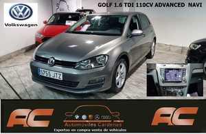 Volkswagen Golf 1.6 TDI 110CV BLUEMOTION ADVANCED NAVEGADOR GPS-PDC DELANTERO Y TRASERO  - Foto 2