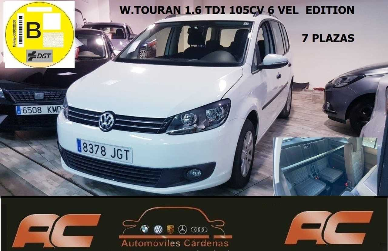 Volkswagen Touran 1.6 TDI 105CV  7 PLAZAS CLIMA-LLANTAS ALUMINIO-BLUETOOTH  - Foto 1