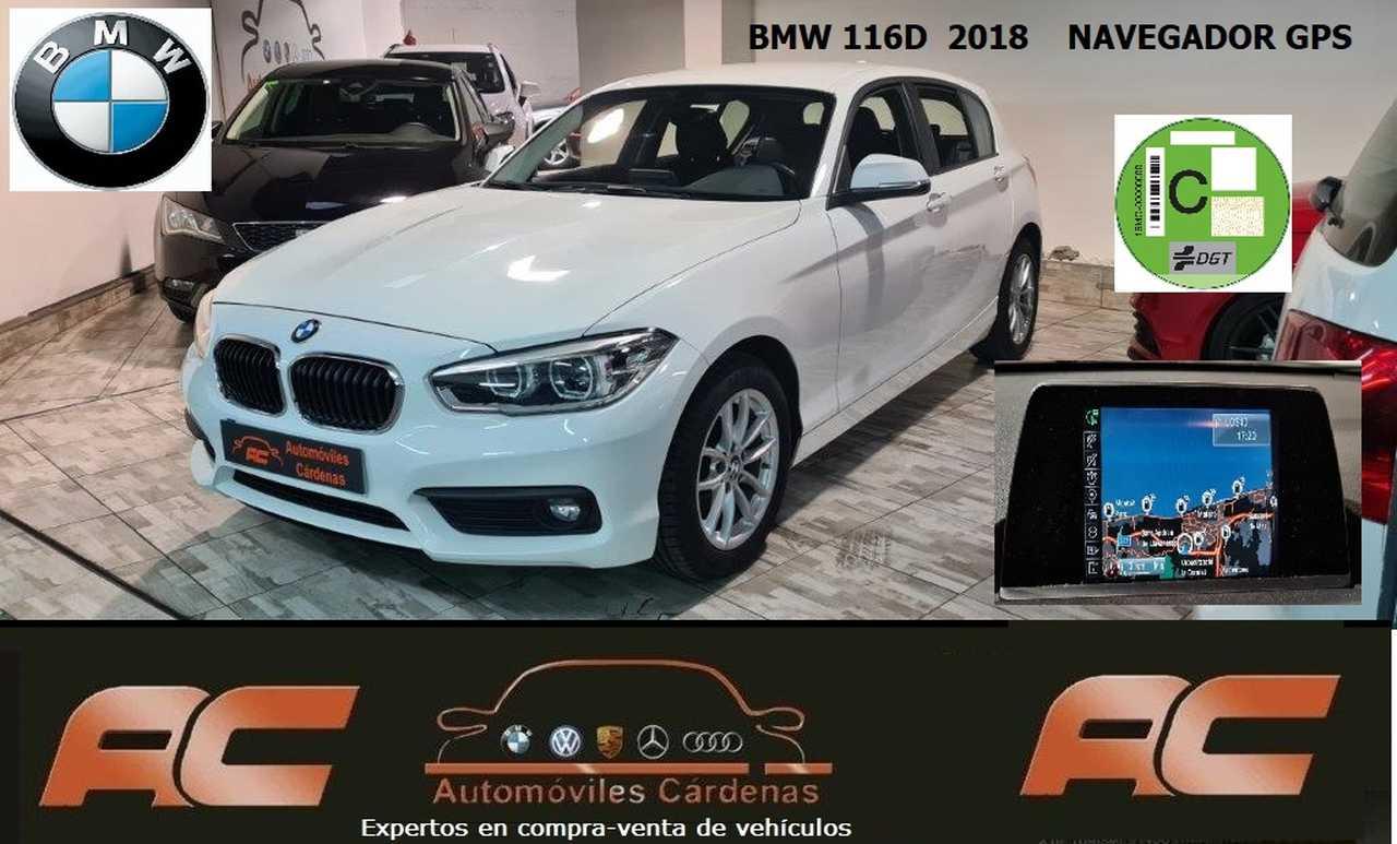 BMW Serie 1 116D 5 PUERTAS NAVEGADOR PROFESIONAL -FAROS LED-BLUETOOTH-USB  - Foto 1