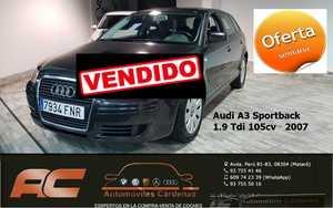 Audi A3 Sportback 1.9 TDI 105CV SPORTBACK ATRACCION CLIMA-LLANTAS-BLUETOOTH  - Foto 2