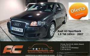 Audi A3 Sportback 1.9 TDI 105CV SPORTBACK ATRACCION CLIMA-LLANTAS-BLUETOOTH  - Foto 3