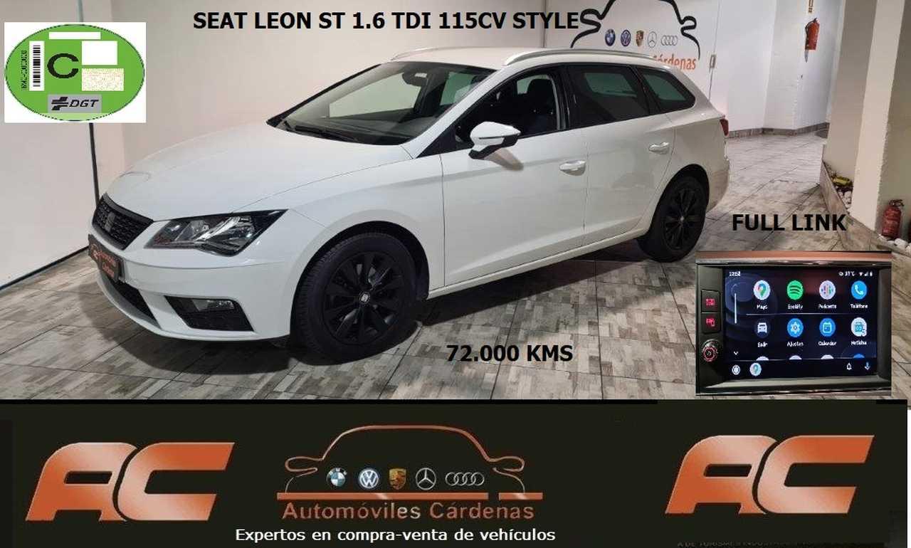 Seat Leon ST 1.6 TDI 115CV STYLE   PANTYALLA FULL LINK SENSOR APARCAMIENTO T-VERSION LIMITED EDITION  - Foto 1