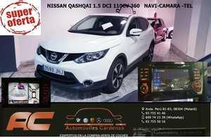 Nissan Qashqai 1.5 DCI 110CV 360 4x2 NAVEGADOR GPS-CAMARA 360-LLANTA 17-CLIMA-USB  - Foto 3