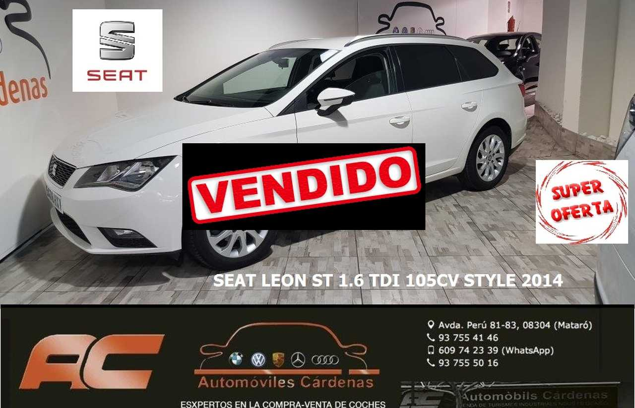 Seat Leon ST 1.6TDI 105CV STYLE CLIMA-LLANTAS-USB-SENSORES APARC T  - Foto 1