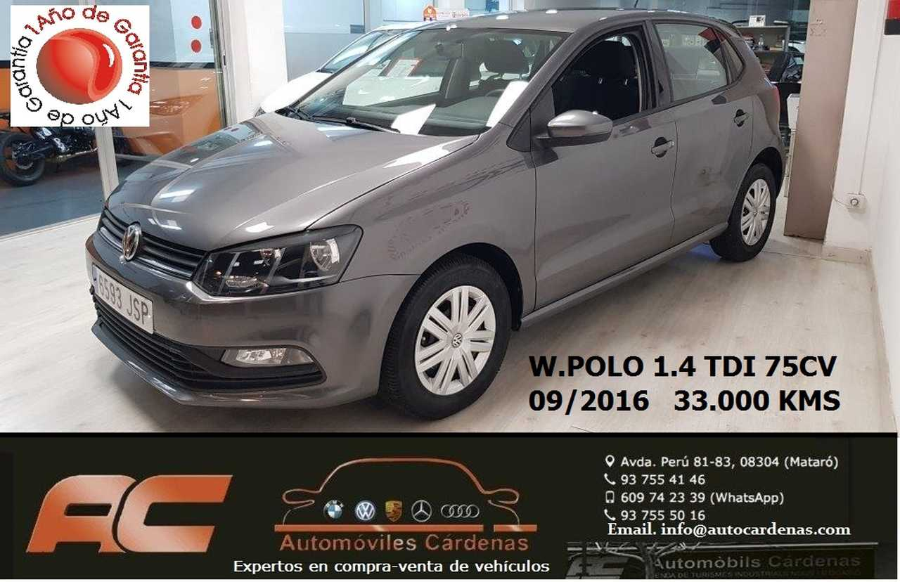 Volkswagen Polo 1.4 TDI 75CV BLUEMOTION EDITION AIRE-BLUETOOTH-USB-PANTALLA TACTIL  - Foto 1