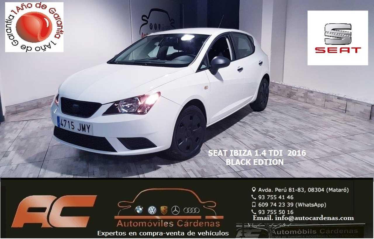 Seat Ibiza 1.4 TDI 75 CV REFERENCE ECOMOTIVE BLACK EDITION-USB-SENSORES T-TELEFONO  - Foto 1