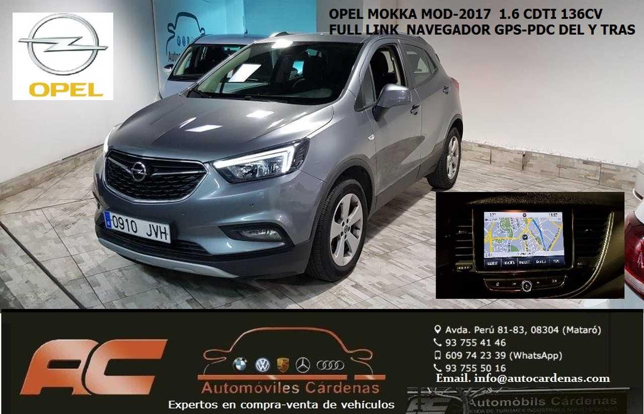 Opel Mokka X 1.6 CDTI 136CV SELECTIVE NAVEGADOR GPS-SENSORES DEL Y TRAS-USB-TEL  - Foto 1